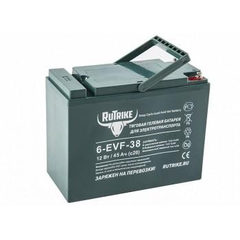 Тяговый гелевый аккумулятор RuTrike 6-EVF-38 (12V38A/H C3)