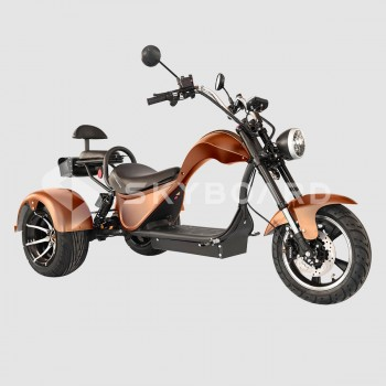 Электроскутер CityCoco SKYBOARD Trike Chopper-2000 Коричневый