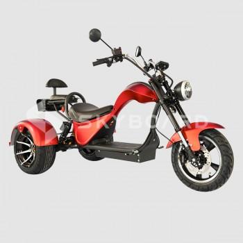 Электроскутер CityCoco SKYBOARD Trike Chopper-2000 Красный