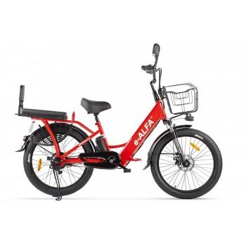 Электровелосипед GREEN CITY e-ALFA Fat Красный