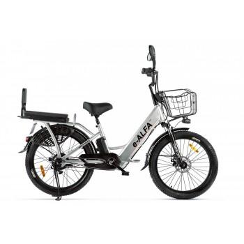 Электровелосипед GREEN CITY e-ALFA Fat Серебристый