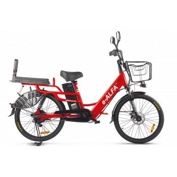 Велогибрид GREEN CITY e-ALFA LUX Красный