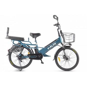 Велогибрид GREEN CITY e-ALFA GL Сине-серый матовый