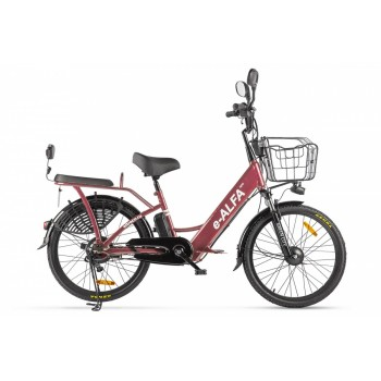 Электровелосипед Green City e-ALFA new Темно-красный матовый