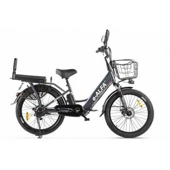 Электровелосипед GREEN CITY e-ALFA Fat тёмно-серый